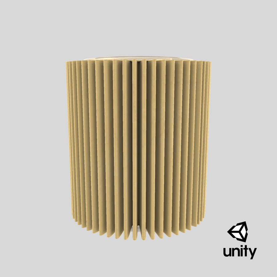 Oil Filter Element royalty-free 3d model - Preview no. 25