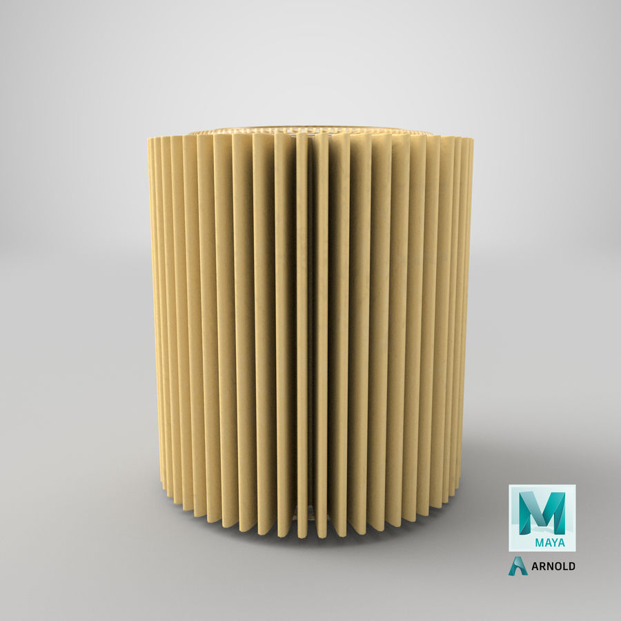 Oil Filter Element royalty-free 3d model - Preview no. 30