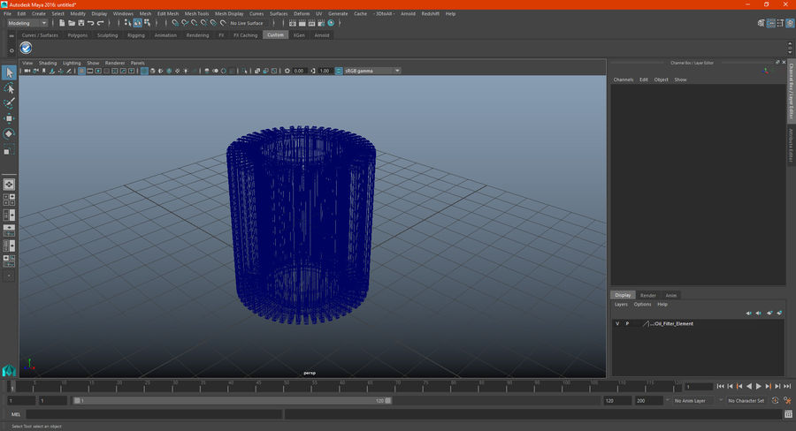 Oil Filter Element royalty-free 3d model - Preview no. 17