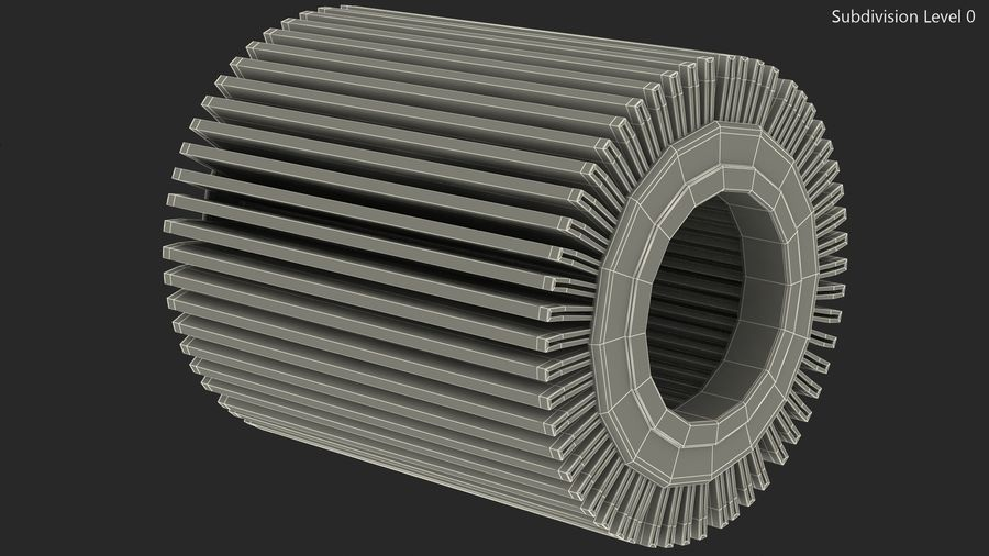 Oil Filter Element royalty-free 3d model - Preview no. 11