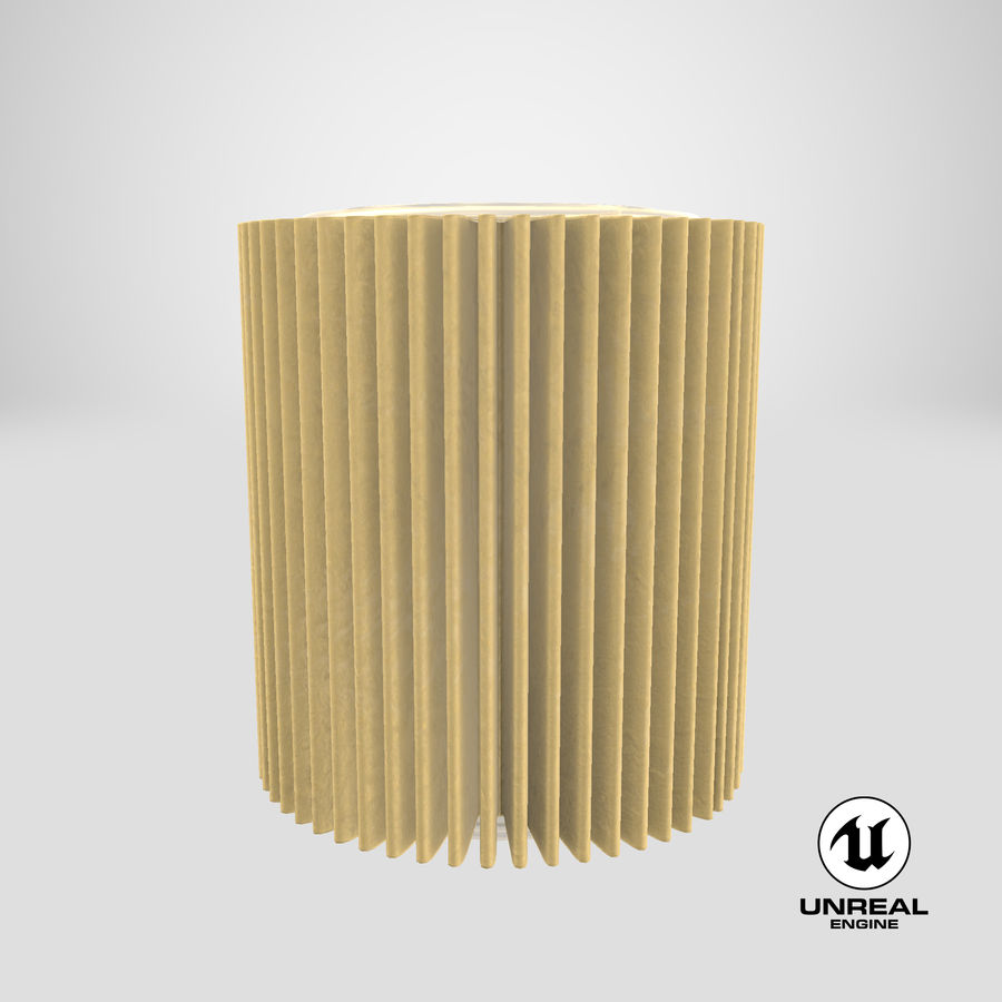Oil Filter Element royalty-free 3d model - Preview no. 26