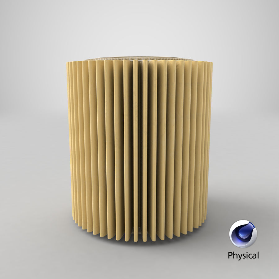 Oil Filter Element royalty-free 3d model - Preview no. 23