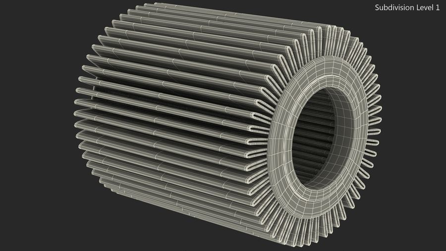 Oil Filter Element royalty-free 3d model - Preview no. 12