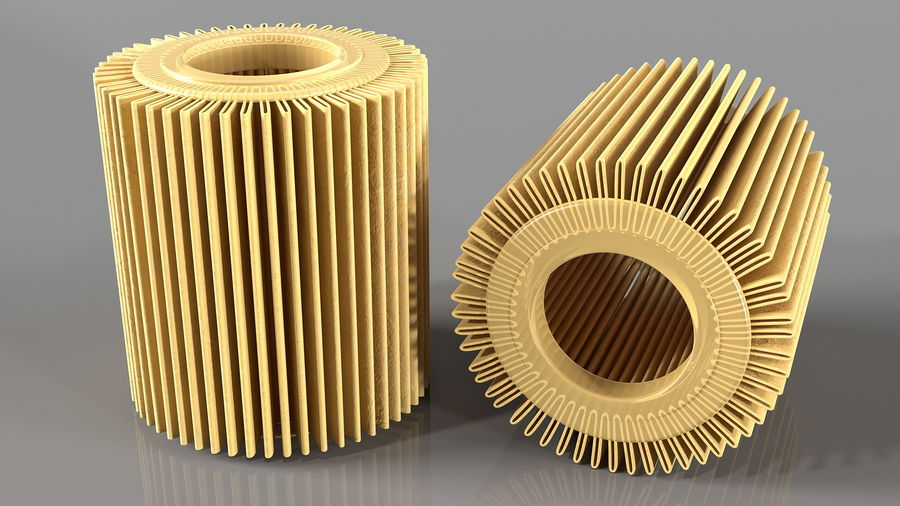 Oil Filter Element royalty-free 3d model - Preview no. 5
