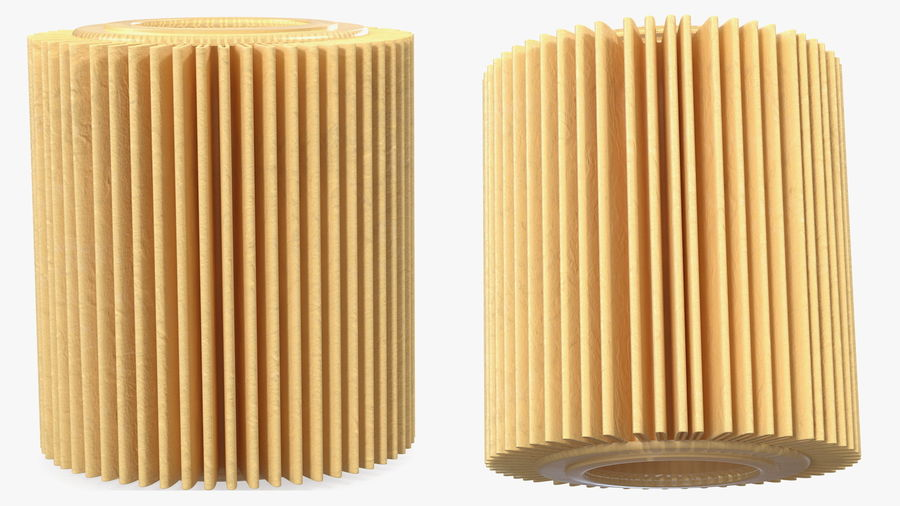 Oil Filter Element royalty-free 3d model - Preview no. 6
