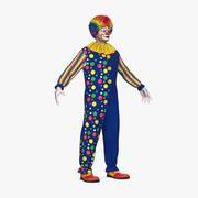 滑稽小丑服装毛皮 3d model