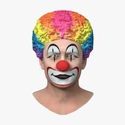 滑稽小丑头 3d model