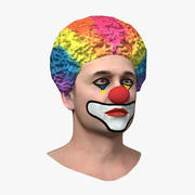 Mens Clown Head 3d model