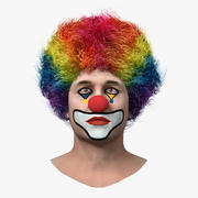 Mens Clown Head Fur 3d model
