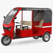 Elektrisk passagerare trehjuling Rickshaw 3d model