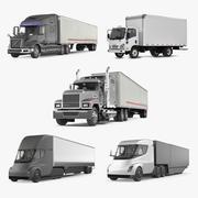 Coleção de caminhões de carga 3d model