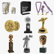 Medals and Awards Collection 3d model