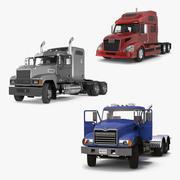 Коллекция грузовых автомобилей 3d model