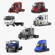 Коллекция грузовых автомобилей 2 3d model