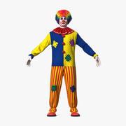 Adult Clown Suit Fur 3d model