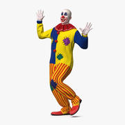 Bald Clown Dancing Pose 3d model