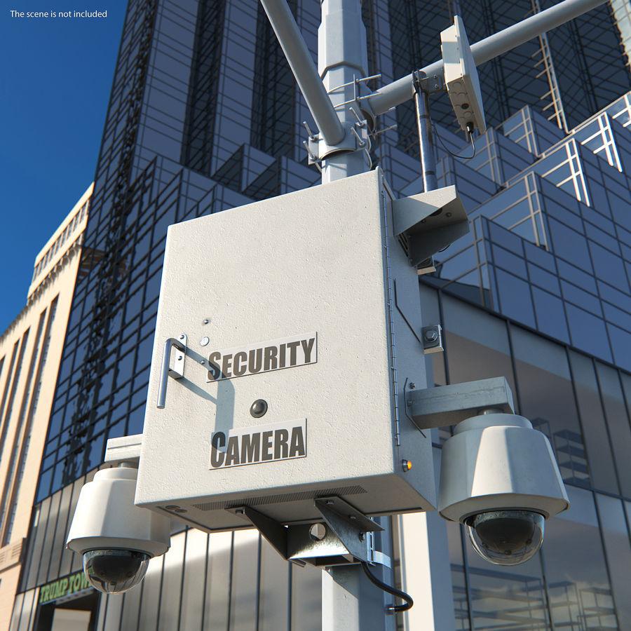 Street CCTV Surveillance Cameras royalty-free 3d model - Preview no. 3
