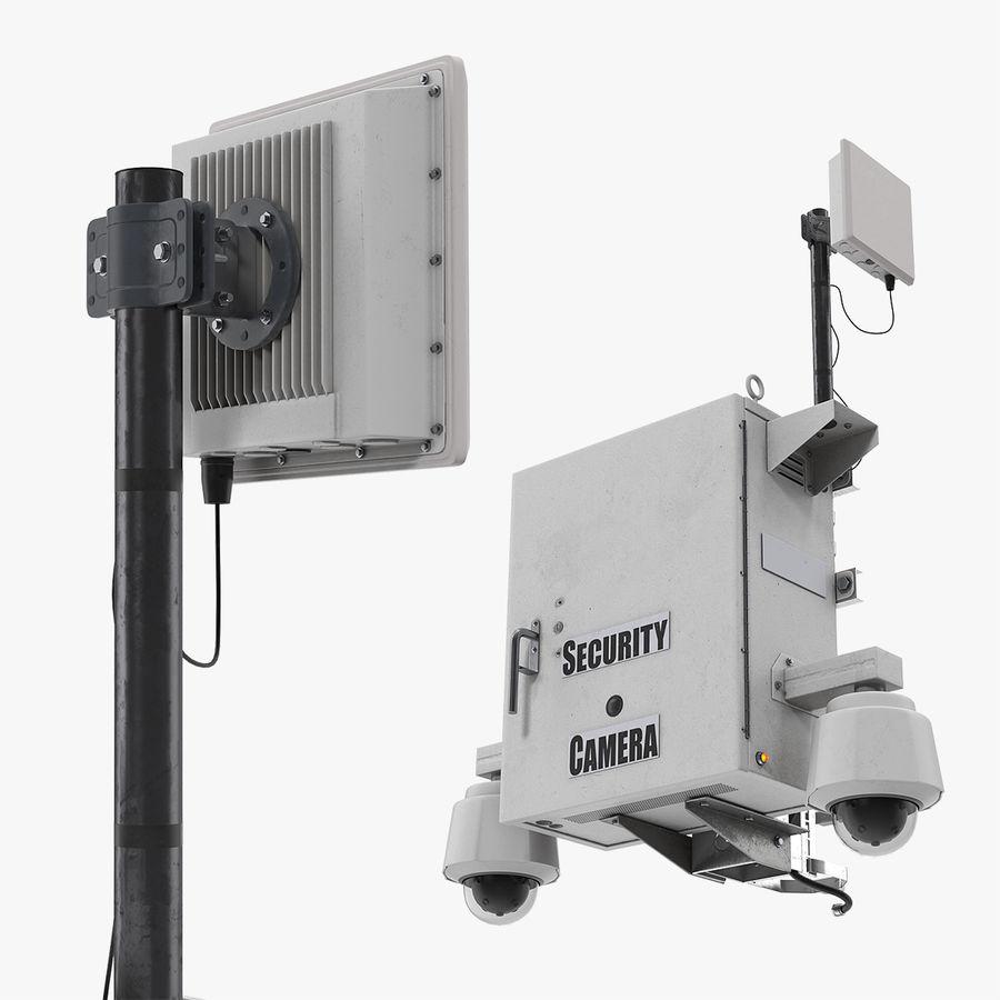 Street CCTV Surveillance Cameras royalty-free 3d model - Preview no. 1