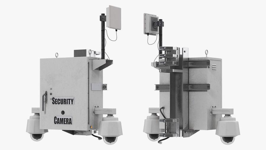 Street CCTV Surveillance Cameras royalty-free 3d model - Preview no. 2