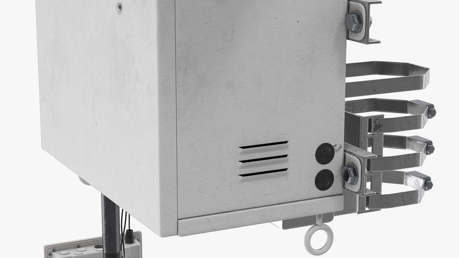 Street CCTV Surveillance Cameras royalty-free 3d model - Preview no. 15
