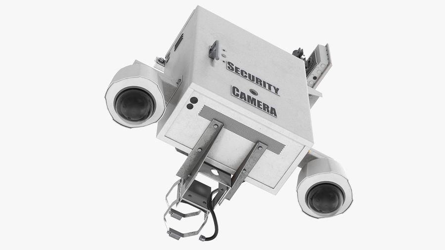 Street CCTV Surveillance Cameras royalty-free 3d model - Preview no. 16