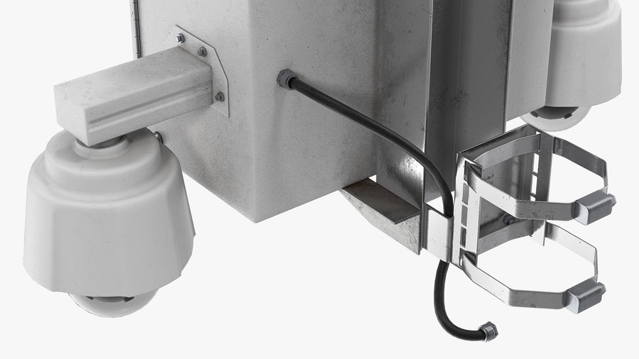 Street CCTV Surveillance Cameras royalty-free 3d model - Preview no. 11
