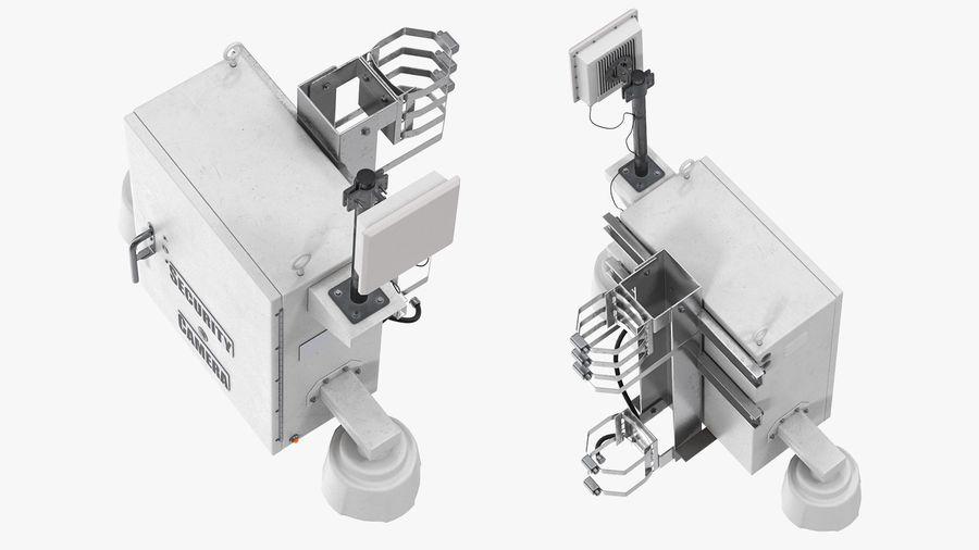 Street CCTV Surveillance Cameras royalty-free 3d model - Preview no. 6