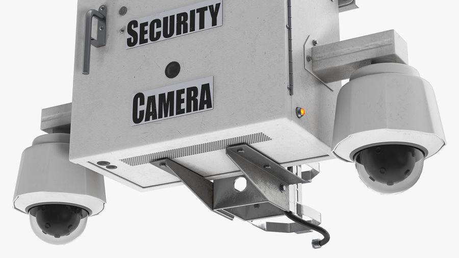 Street CCTV Surveillance Cameras royalty-free 3d model - Preview no. 7