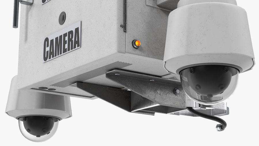 Street CCTV Surveillance Cameras royalty-free 3d model - Preview no. 13