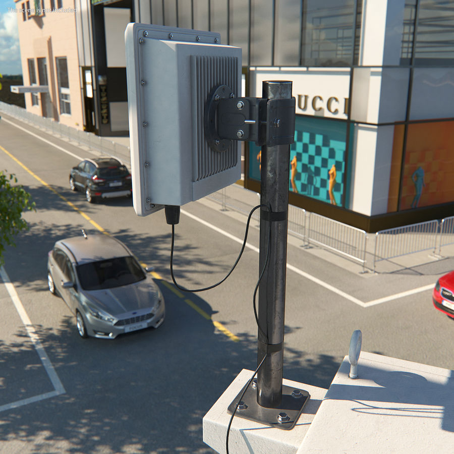 Street CCTV Surveillance Cameras royalty-free 3d model - Preview no. 4