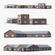 Factory Buildings Collection 3d model