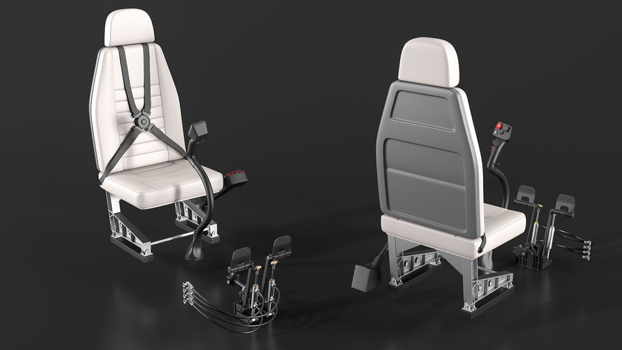 Podstawowe sterowanie helikopterem royalty-free 3d model - Preview no. 3