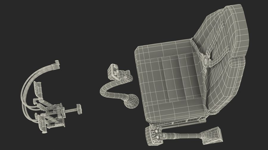 Podstawowe sterowanie helikopterem royalty-free 3d model - Preview no. 24