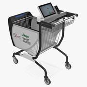 Caper Smart Shopping Cart 3d model