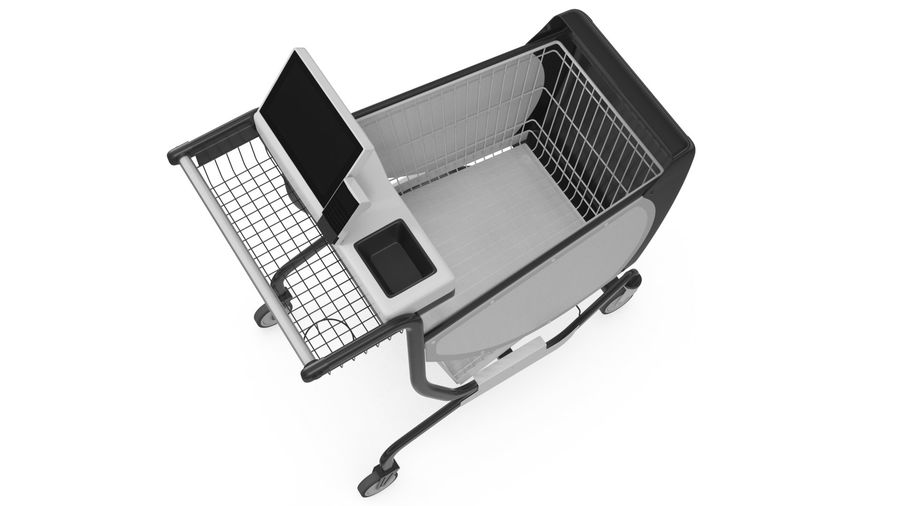 Smart Shopping Cart royalty-free 3d model - Preview no. 11