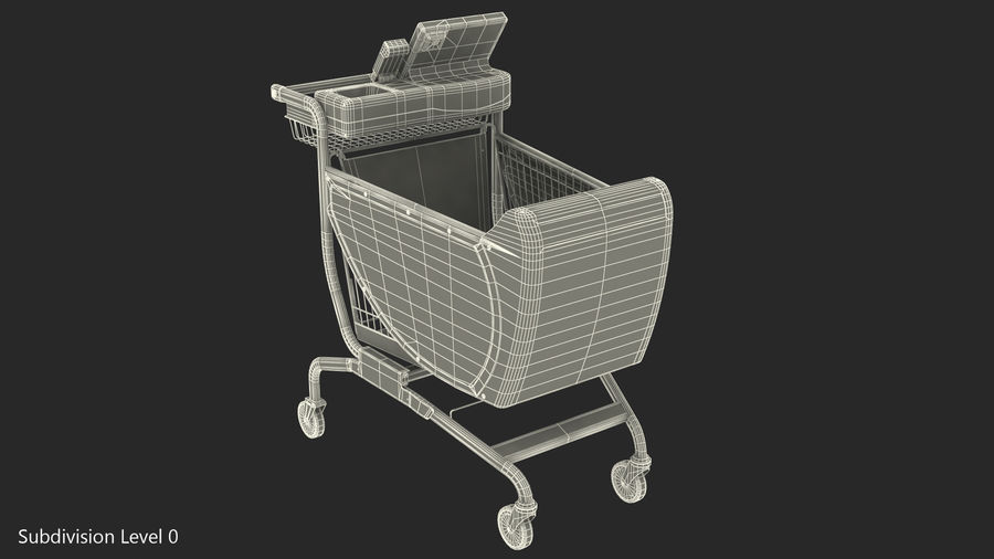 Smart Shopping Cart royalty-free 3d model - Preview no. 18