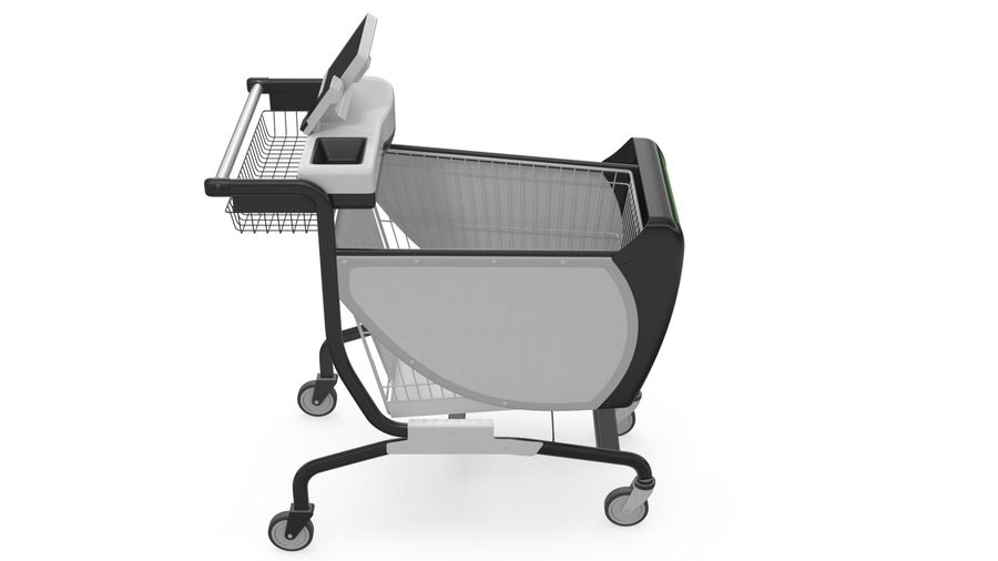 Smart Shopping Cart royalty-free 3d model - Preview no. 6