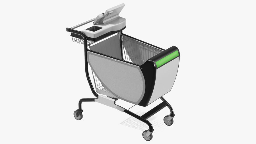 Smart Shopping Cart royalty-free 3d model - Preview no. 2