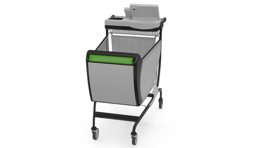 Smart Shopping Cart royalty-free 3d model - Preview no. 4