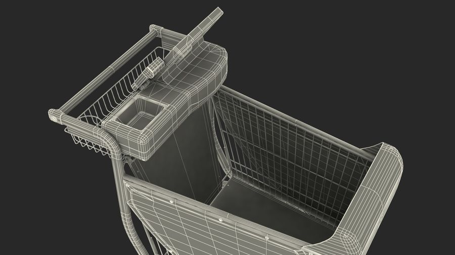 Smart Shopping Cart royalty-free 3d model - Preview no. 30