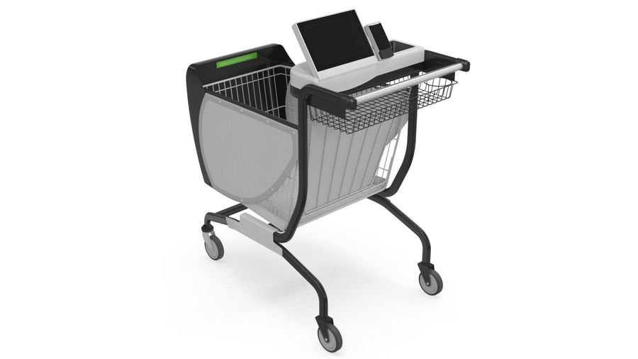 Smart Shopping Cart royalty-free 3d model - Preview no. 8