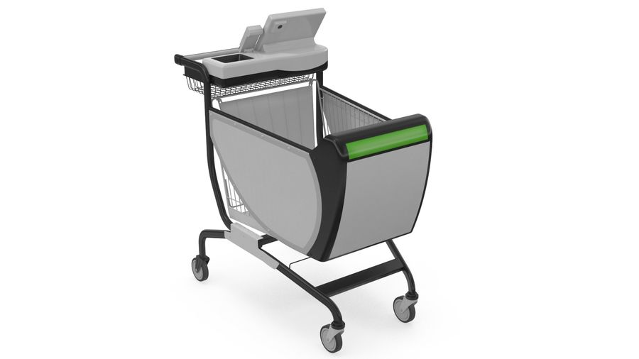 Smart Shopping Cart royalty-free 3d model - Preview no. 5