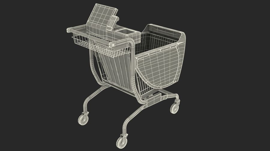 Smart Shopping Cart royalty-free 3d model - Preview no. 27