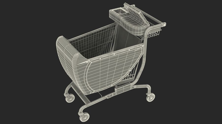 Smart Shopping Cart royalty-free 3d model - Preview no. 28