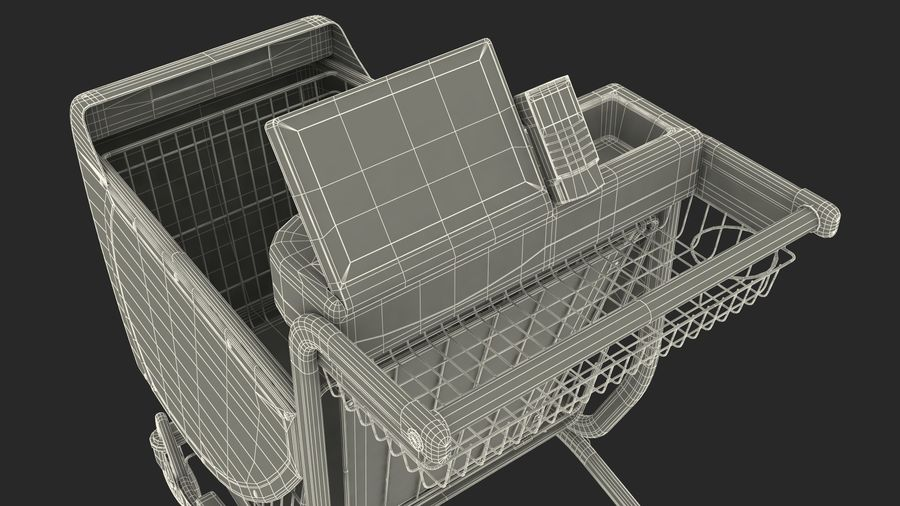 Smart Shopping Cart royalty-free 3d model - Preview no. 29