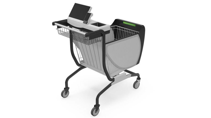 Smart Shopping Cart royalty-free 3d model - Preview no. 7