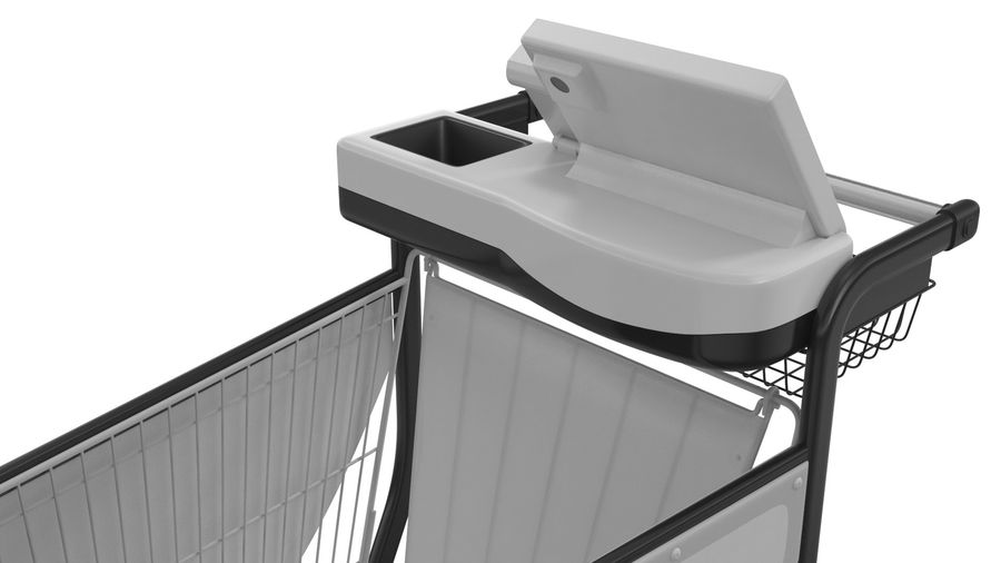 Smart Shopping Cart royalty-free 3d model - Preview no. 16