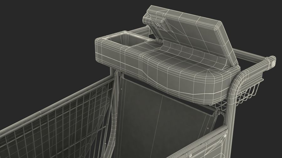 Smart Shopping Cart royalty-free 3d model - Preview no. 32