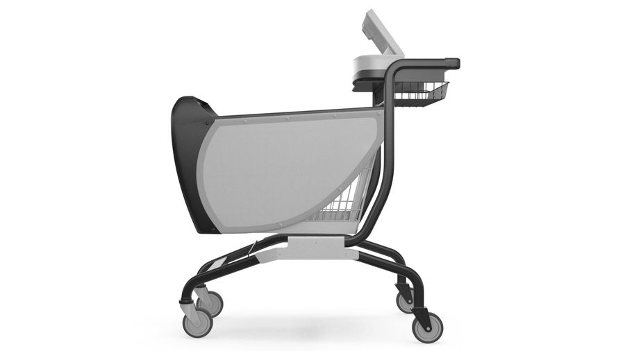 Smart Shopping Cart royalty-free 3d model - Preview no. 9