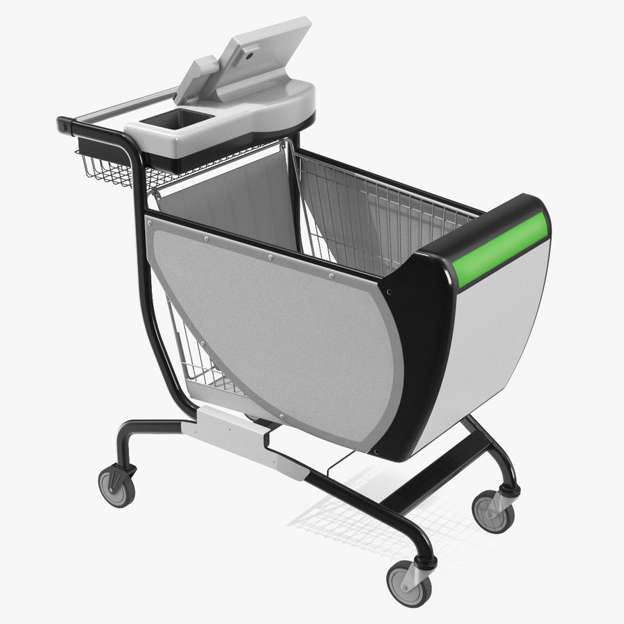 Smart Shopping Cart royalty-free 3d model - Preview no. 1